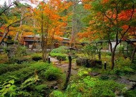 仙壽閣秋の庭園